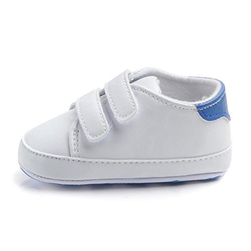 Creazrise Infant Toddler Baby Boy Girl Soft Sole Crib Shoes Sneaker Newborn (3-6 Month, Blue)