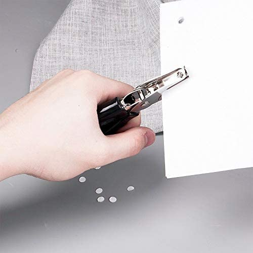 Clips Occus 1pcs Punch Metal Single Hole Random Color Punch Sheet Manual Hand-held Ticket clamp Wavy Handle Punch Office Stationery No. of Holes: 1