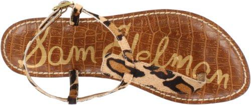 Sam Edelman Gigi - Sandalias de vestir de piel para mujer beige - Beige (NEW NUDE LEOPARD BRAHMA)
