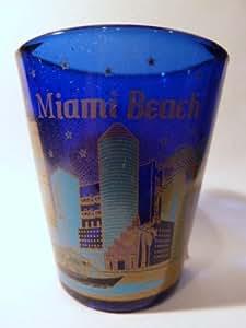 Miami Beach Florida Metallic Shot Glass by World By Shotglass