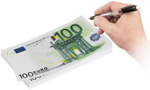 Notizblock 100€ Note liniert 80 Blätter aus Papier NEU Bartl 110128