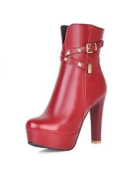 eik Zapatos – Botas – Mujer vestido/LÄSSIG – Piel sintética – Bloque tacón redondas