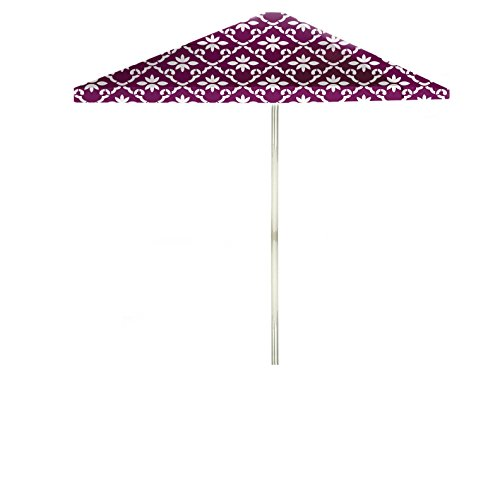 Best of Times Garden Party Patio Umbrella, 8′, White/Magenta Review