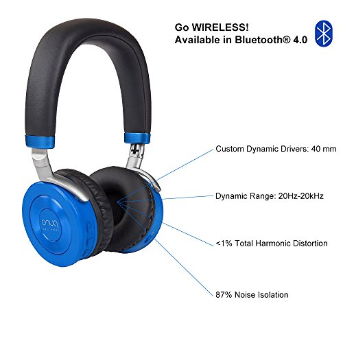 Puro Sound Labs JuniorJams On-Ear Headphones Wireless Foldable Kids Earphones with Bluetooth, Volume Limiting, Lightweight and Noise Isolation for Smartphones PC Tablet – JuniorJams Blue