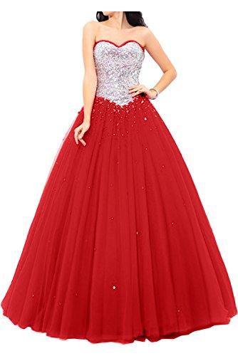 Ivydressing - Vestido - para mujer Rojo