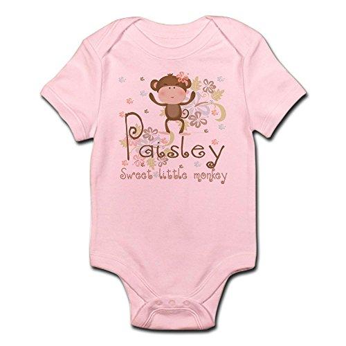 CafePress Paisley.Sweet little monkey Infant Bodysuit - Cute Infant Bodysuit Baby (Pink Paisley Monkey)
