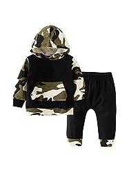 "Emma&Ryan Baby boys ""Camouflage"" Outfits Newborn Hoodie Tops Sweatshirt +Pants 3-24M"