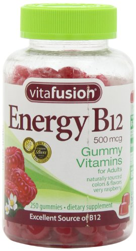 Vitafusion Energy B12 Gummy Vitamins, Very Raspberry, 250 Count, Health Care Stuffs