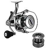 yugan Squid Wheel Double-Loading Two-Speed Ratio Fishing Reel Metal Head Fishing Reel Front and Rear Venting Spinning Wheel CNC Rocker