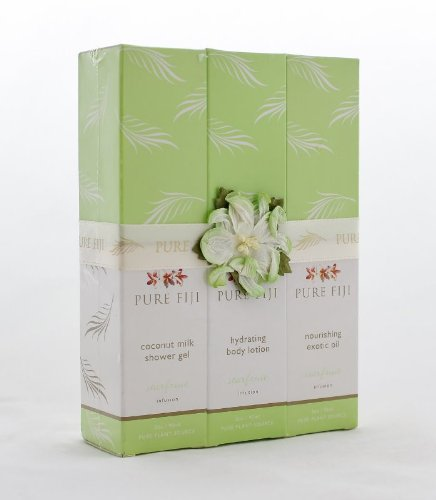 Pure Fiji 3 Pack Gift Set STARFRUIT - 3 oz. (shower gel, lotion, oil) -