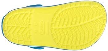 Crocs Kids' Crocband K Clog,tennis Ball Greenocean,9 M Us Toddler 5