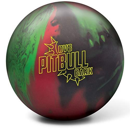 DV8 Bowling Products Pitbull Bark Bowling Ball- 15Lbs, Black/Red/Green, 15 (Best Dv8 Bowling Ball)