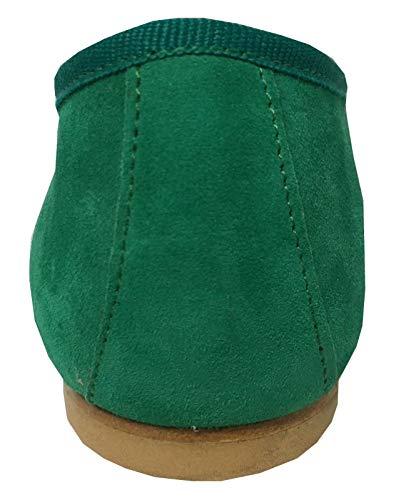 Modèle In Valeria Italy 1 100 Doublé Ballerine Talon Prato En Class Femme Made Tissu Cm Upper Cuir Daim Coton SqXaF