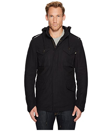 - Alpha Industries Men's M 65  Defender Field Coat, Black, Medium
