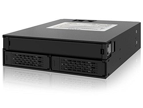 Icy Dock MB994IPO-3SB 2.5 Negro recinto de almacenaje - Disco duro en red (2.5, SATA, SATA, Negro, 4 cm, 1 Ventilador(es))