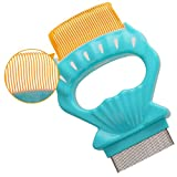 Pet Grooming Comb with Soft Teeth for Short-Haired Kitten Detachable Shell Massage Rake, Green