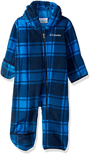 Fleece Bunting - Columbia Unisex Baby Infant Snowtop II Bunting, Collegiate Navy Plaid, 3/6