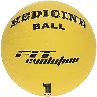 Fit Evolution - Balón medicinal, 1 kg: Amazon.es: Deportes y aire ...