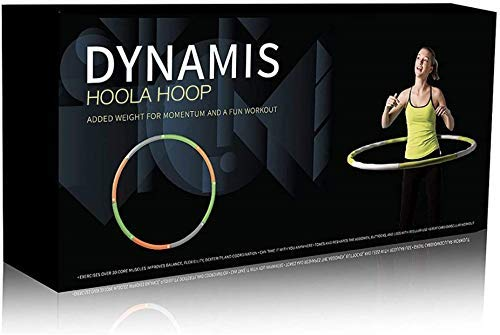 Dynamis Fat Burning Weighted Hoola Hoop - Premium Exercise Fitness Tool for Adults - Burn Calories While Strengthening Abdominals and Core..