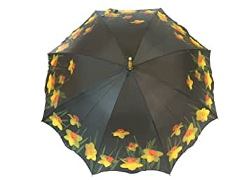 Blooming Brollies Unisex Adult's Daffodil Stick Umbrella One Size Multicolored