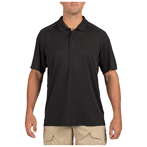 (5.11 Tactical Men's Helios Short Sleeve Polo Shirt, Moisture-Wicking, Quick-Drying, Style 41192)