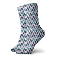 Pattern Socks,Socks Abstract Zigzag Triangles Arrow