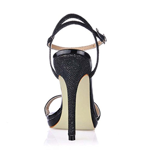 Sandal Simple 12CM MULTI Shoes SM00601 Stiletto Dress Shoes Court Black Women Heeled COLORS Sparkle wrt6REqYnr