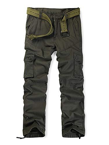Travail Poches De Pantalon Adultes Cargo Coton Vert sans Armee Combat Ochenta Multi Ceinture Treillis Pantalons Homme Militaire v1nwB
