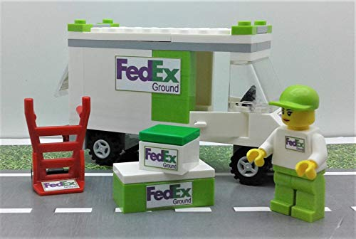 Building Toys City FedEx Grand (Green) Set Truck. Minifigure & More. Ready to Play from Custom Toys & Hobbies