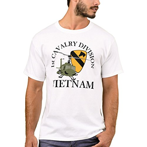 Zazzle Men's Basic T-Shirt, 1st Cav Vietnam Vet T-Shirt, White XXL (1st Cav T-shirts)