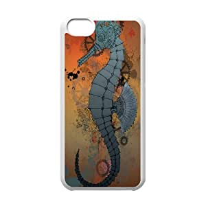 UNI-BEE PHONE CASE For Iphone 5c -Funny Sea Horse-CASE-STYLE 4
