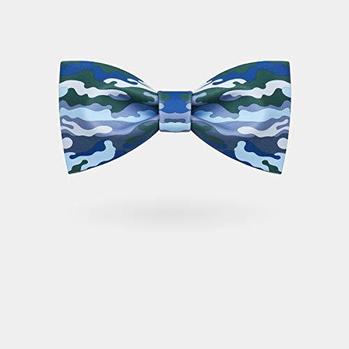 JEOSNDE Personalidad Azul Verde Impresión de Camuflaje Hecho A ...