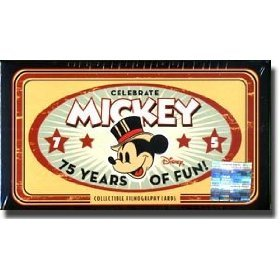 75th Anniversary Limited Edition - Disney / Upper Deck - Mickey Mouse - Celebrate 75 Years of Fun - 75th Anniversary Limited Edition - Collectible Filmography Cards
