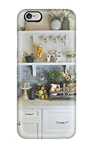 Top Quality Protection White Cabinetry With Stone Kitchen Backsplash Case Cover For Iphone 6 Plus