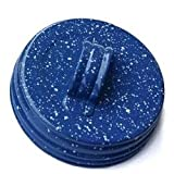Factory Direct Craft® Package of 6 Small Mouth Blue Speckle Painted Canning Jar Lids with Handle