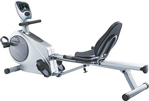 AsVIVA RA6 2in1 Rudergerät und Liegeergometer CardioVI - Das Fitnessgerät / Heimtrainer als Rower und Fitnessbike inkl. Fitnesscomputer und Pulsempfänger, schwarz/grau