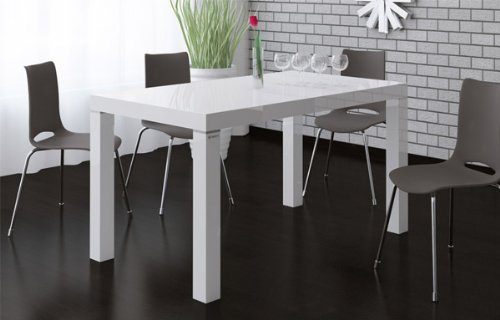 Esstisch Tisch Esszimmertisch ausziehbar weiss Hochglanz