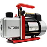 """AUTOGEN Single-Stage Rotary Vane Vacuum Pump 4CFM 5 Pa 1/3HP for Air Conditioner Refrigerant HVAC Air Tool R410a 1/4"""" Flare Inlet Port"""