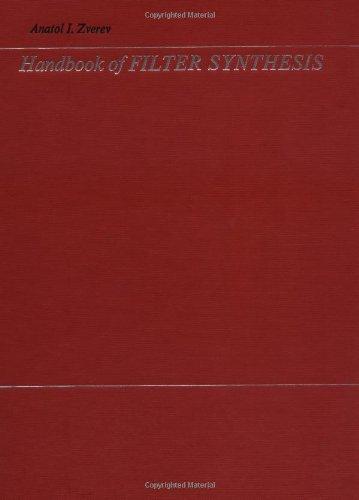 Handbook of Filter Synthesis por Anatol I. Zverev