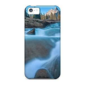 Ultra Slim Fit Hard AleighasZelaya Case Cover Specially Made For Iphone 5c- California Yosemite Meadows Waterfalls