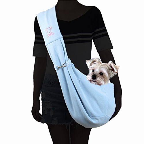 Couture - Chico Reversible Pet Sling Carrier - Color: Blue ()
