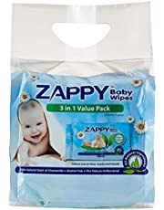 Zappy Baby 30s Wipes Value Pack, 30 ct (Pack of 3)