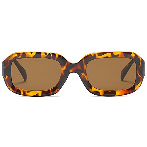 modesoda New Vintage Square Frame Sunglasses for Men and Women UV400 Protection