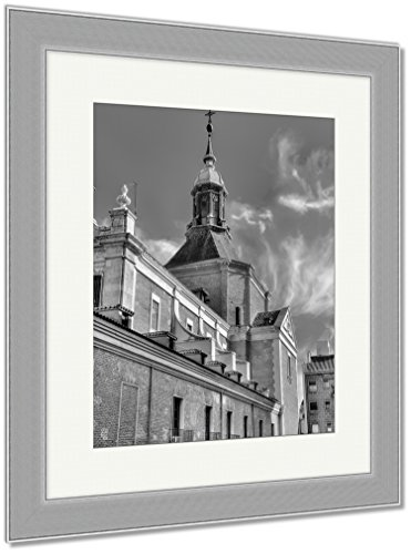 Ashley Framed Prints Iglesia Del Sacramento A Baroquestyle Roman Catholic Church Located In Madrid, Wall Art Home Decoration, Black/White, 40x34 (frame size), Silver Frame, AG6511504 by Ashley Framed Prints