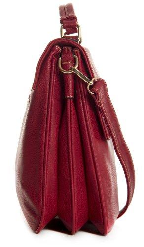 Taille Big à main Sac Handbag S pour sacoche Poches Medium Marron femme multiples Shop style Tan Rouge rouge PPFqgWRx1w