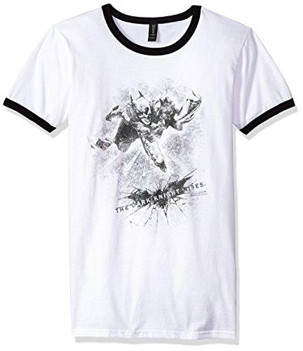 Trevco Men's Batman Dark Rises Penciled Knight Ringer T-Shirt at Gotham City Store