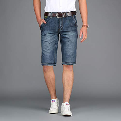 Corto Ocio Bermudas Con Mode Slim Schwarz Pantalón Rectas Mezclilla Verano Fit Marca De Bolsillo Los Pantalones Cortos Jeansshort Hombres gz4wnY