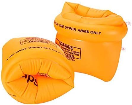 プール/スパ/スイミング練習のためのオープンウォータースイムブイ、肥厚プールインフレータブル水泳アーム、子供/大人アーム浮力リングウォータースリーブ、