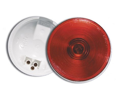 Stop-Turn-Tail Lamp, Red, Round (Torsion Stop)