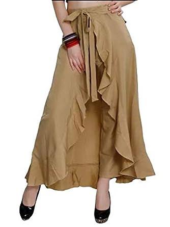 Women's Solid Flared Skirt Skirts